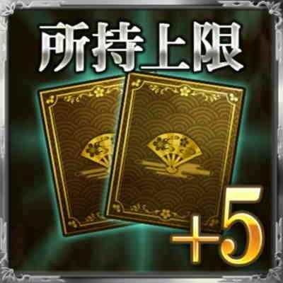 カード所持上限+5