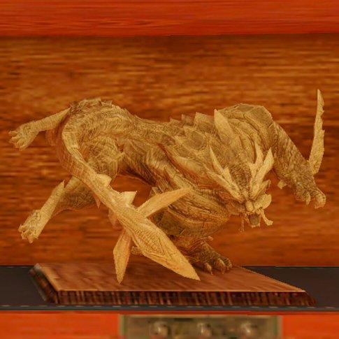 怨虎竜の木彫り