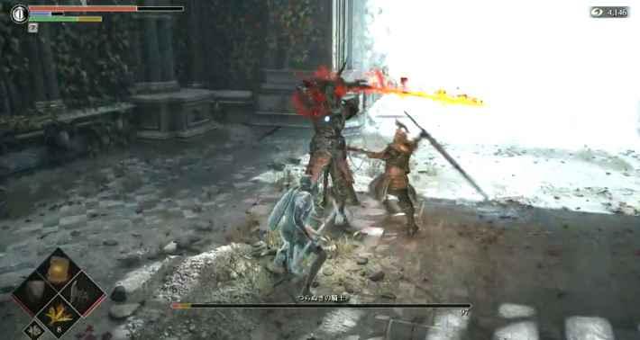 つらぬきの騎士と戦うビヨール
