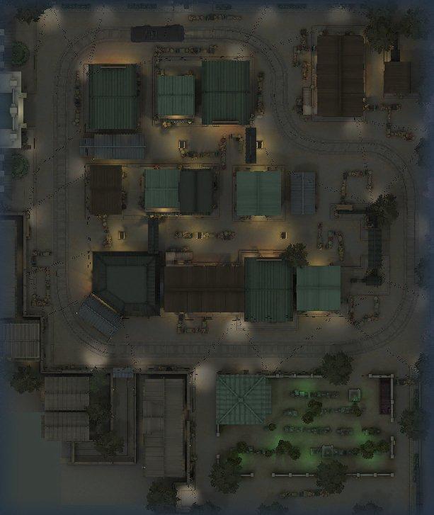 永眠町の全体マップ