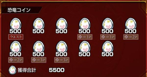 恐竜コインは全部で何枚必要