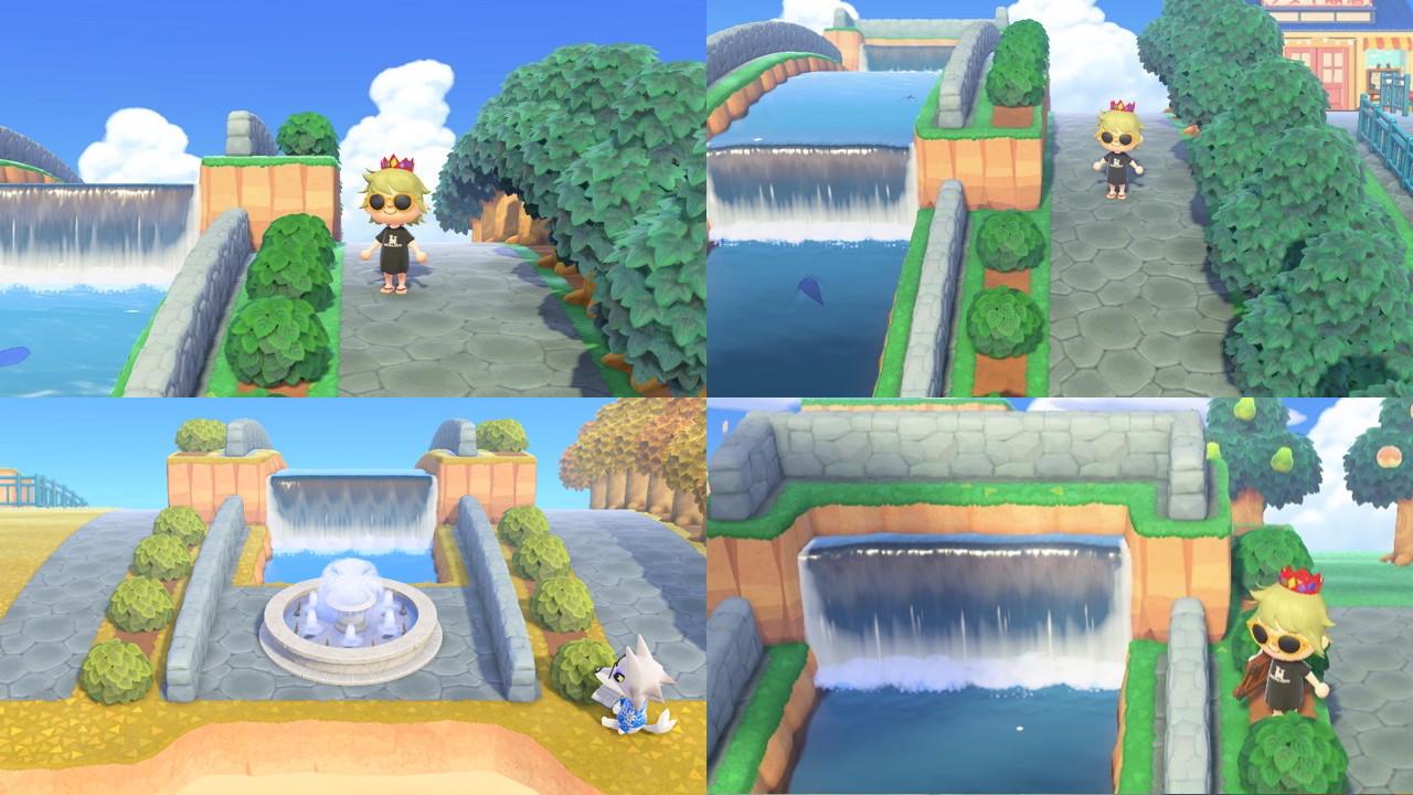 公園 あつ森 噴水