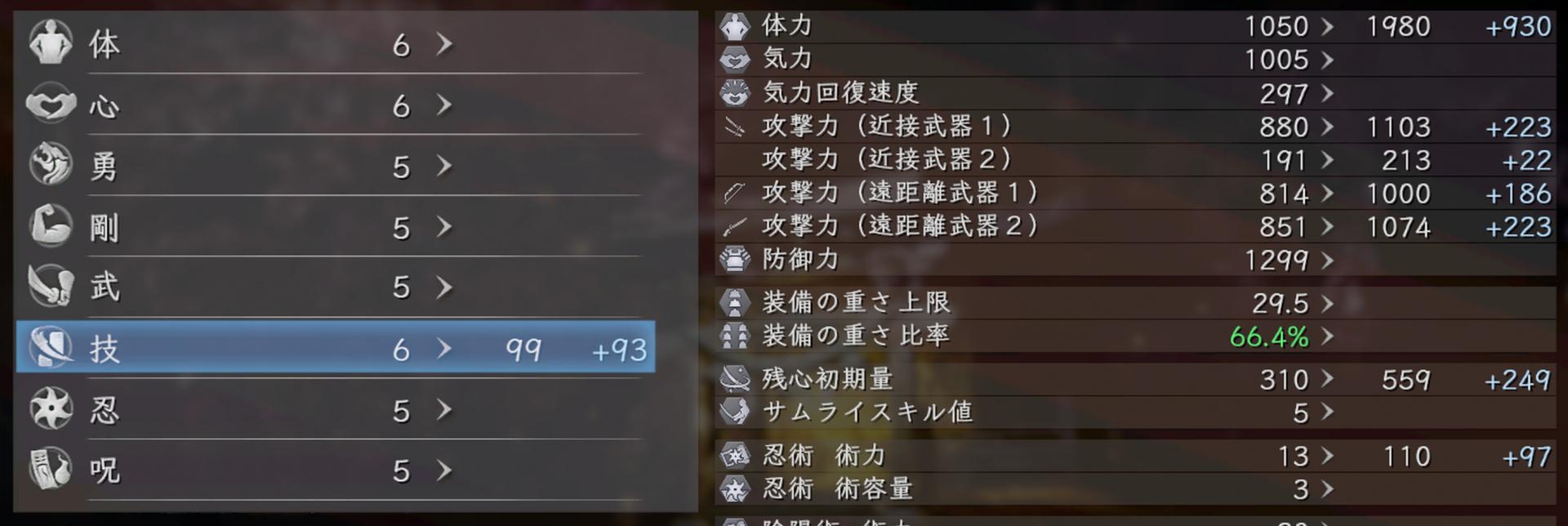 仁王2 斧ビルド