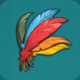 五色の羽アイコン